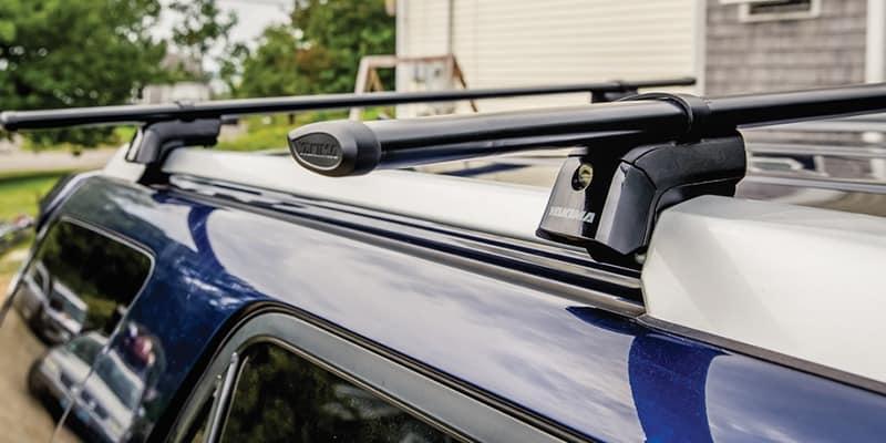 Yakima roof rack system on blue SUV